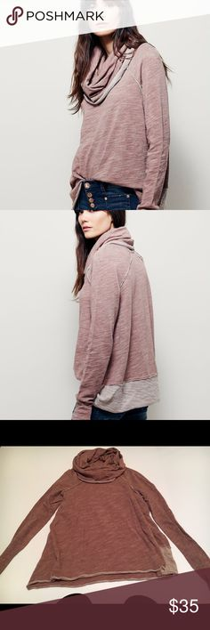Fre People Cocoon Pullover This is a great FP too, with a cowl neck that can also be worn as a good! This too is in great condition. Free People Tops Tees - Long Sleeve