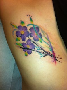 violet watercolor tattoo - Google Search