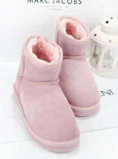 2013 new leather super cute pink winter boots in winter low tube boots UGG short boots womens boots snow winter boots