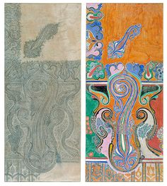 Design from a Naqqash pattern artist & shawl weaver's pattern-book. Kashmir. ca 1881.