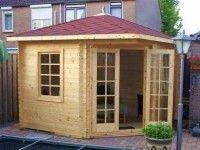 Abri de jardin d\'angle Jessica 8.25 m² - bois 21 mm - avec plancher | Ps