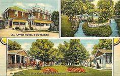 Bel Air Maryland MD 1950s Del Haven Hotel Cottages Antique Vintage Postcard