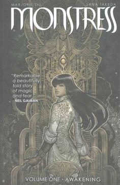Set in an alternate world of art deco beauty and steampunk horror, Monstress tells the epic story of Maika Halfwolf, a teenage survivor of a cataclysmic war between humans and their hated enemies, the Arcanics. In the face of oppression and terrible danger, Maika is both hunter and hunted, searching for answers about her mysterious past as those who seek to use her remain just one step behind... and all the while, the monster within begins to awaken.