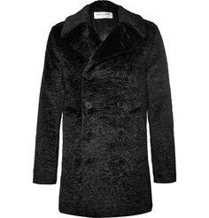 Saint Laurent - Double-Breasted Faux Fur Coat