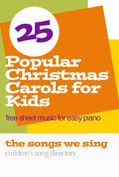 Looking for a few Christmas songs to for your kids to play this Christmas. Here's a list of some of the most popular carols. Most of these songs will be familiar to kids and will be fun to pr…