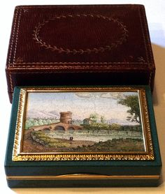 Snuff box with micromosaic of the Nomentano Bridge