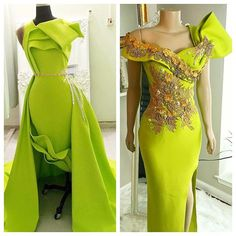 Lemon never looked soo good 🍋 🍋💚💚 African Inspired Fashion, African Fashion Dresses, Dinner Gowns, Evening Dresses, African Attire, African Dress, African Wedding Dress, Gown Pattern, Ankara Dress