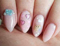 Blue and Pink Kitty Cat Nails – My Nail Envy