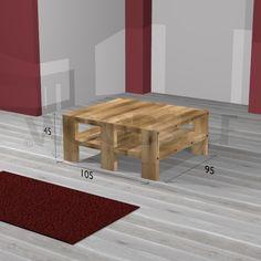Table basse - plan du meuble