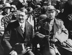 Adolf Hitler and Paul Von Hindenburg - HU007810 - Rights Managed - Stock Photo - Corbis