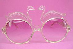Vintage 70s Swan Sunglasses Eyewear Rare