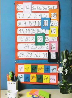 Que dia é hoje?, upload feito originalmente por gente_miúda. Idéia super fácil e lindaaaaaa!!! Faça em EVA ou papel! Artigos Relacionados Labirinto – Vamos pescar? Cartãozinho para Agenda – Trânsito Painel de combinados feito em EVA Lembrancinha de EVA para o dia da árvore