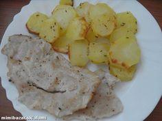 Keďže v rímskom hrnci môžeme piecť bez použitia tuku, je to postup vhodný pri refluxe.... Potato Salad, Food And Drink, Potatoes, Meat, Chicken, Vegetables, Ethnic Recipes, Beef, Potato
