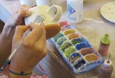 Underglaze Users Guide How to Use Ceramic Underglazes to Add Color and Graphic Interest in Your Pottery Projects Ceramic Arts Daily Ceramic Tools, Ceramic Decor, Ceramic Clay, Ceramic Pottery, Pottery Art, Pottery Studio, Ceramic Plates, Pottery Lessons, Pottery Classes