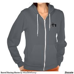 Barrel Racing Horse by WoofNWhinny* Hoodie  #horse #barrelracing #rodeo #western…