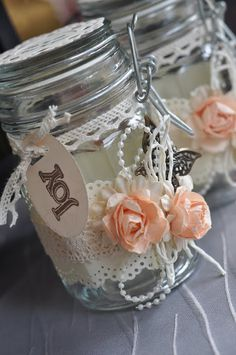 Labels: altered jar, decorated glass jar, door gift, favours, gift, glass ...armalia.blogspot.com