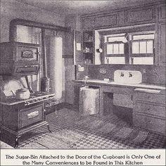 1911 Kitchen with Boiler & Gas Range Source: Ladies Home Journal