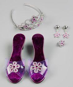 Loving this Fuchsia Princess Flower Dress-Up Set on #zulily! #zulilyfinds