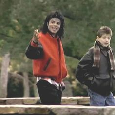 "MJ with Ryan White. Ryan was one of first publicly known kids to die of HIV.. inspiring MJ's song ""Gone too Soon"" in 1993."