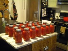 A mt. of canning recipes.