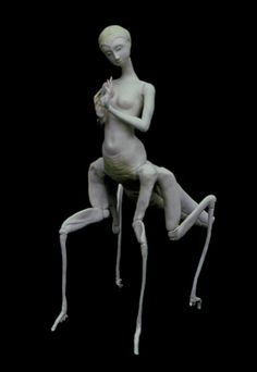 """""""Waiting"""", by Pat Lillich. """"In the shadows"""" series. Apoxy sculpt."""