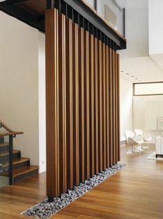 wood partition wall design - Поиск в Google