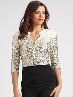 Moschino Cheap And Chic - Cropped Sparkle Cardigan - Saks.com