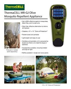 ThermaCELL Mosquito Repellent Olive Appliance