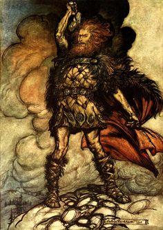 Arthur Rackham - The Rhinegold (1910)