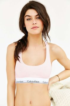 UO Exclusive Calvin Klein Modern Cotton Racerback Rose Bralette