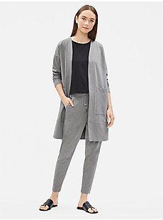 0d1028daf5 Heathered Organic Cotton Long Jacket | EILEEN FISHER Slow Fashion, Eileen  Fisher, Long Jackets