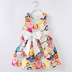 Girl's Casual/Daily Print DressCotton / Polyester Summer / Spring White 5271615 2016 – $23.99