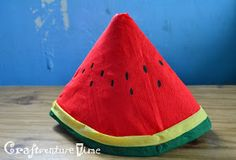 Nutrition Month Costume For Kids Diy Watermelon Costume, Nutrition Month Costume, Diy For Kids, Crafts For Kids, Hat Crafts, Costume Hats, Diy Hat, Fruits And Veggies, Vegetables