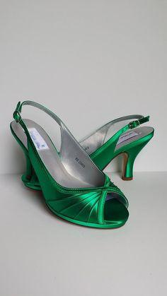 Kelly Green Wedding Shoes Kelly Green Bridal Shoes Slingback Wedding Shoes Bridesmaid Shoes Over 100 Custom Color Choices