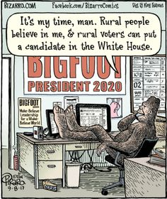 """Dan Piraro's """"Bizarro"""" is an eccentric and bizarre look at everyday life through the cartoonist's eyes. Reaction Pictures, Funny Pictures, Bizarro Comic, Finding Bigfoot, Bigfoot Sasquatch, Bigfoot Pics, No Time For Me, Hysterically Funny, City Folk"""
