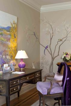 20 Wall Murals Changing Modern Interior Design with Spectacular Wall Painting Ideas - Wonderful Wallpapers! Modern Interior Design, Modern Decor, Luxury Interior, Modern Wall, Chinoiserie Wallpaper, Home And Deco, Wall Murals, Wall Art, Tree Murals