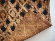 アフリカ民藝幾何学模様古い布クバ布ショワ草ビロード0303