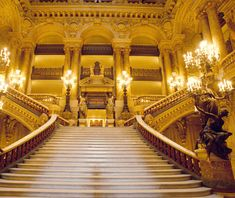 Grand Opera Staircase, Paris, model for stairs at Grand Central Station