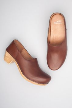 Marisol Brandy by Dansko.These are absolutely perfect. I love the color, the small heel - they would work in Morocco, and then be perfect with casual graduate school clothes, dressed up for interviews, and even with scrubs for physical therapy internships! LOVE THEM!
