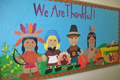 4 Fun Thanksgiving Bulletin Board Ideas & Classroom Door Decorations 4 Fun T November Bulletin Boards, Thanksgiving Bulletin Boards, Classroom Bulletin Boards, Thanksgiving Crafts, Thanksgiving Decorations, Thanksgiving Classroom Door, Preschool Christmas, Autumn Crafts, Classroom Ideas