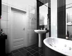 two black walls two white walls bathroom - Google-haku