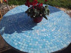 DIY mosaic garden table