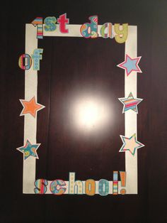 Back to school photo booth frame