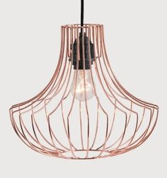 The Coop Pendant Shade in Copper. Modelled on classic chandeliers but with more of an edge. £29 | MADE.COM