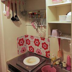 狭いキッチン/100均/1K/一人暮らし/キッチンのインテリア実例 - 2016-11-24 16:14:28 | RoomClip(ルームクリップ)