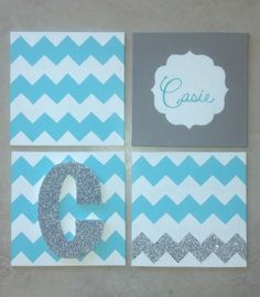 Chevron Canvas Crafting for my new roommate!