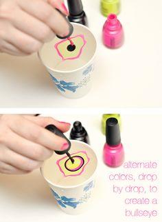 How to do marble nail polish tutorial. I really hope this works! Marble Nail Polish, Water Marble Nail Art, Nail Polish Crafts, Nail Polish Designs, Cute Nail Designs, Funky Nail Art, Funky Nails, Great Nails, Cute Nails