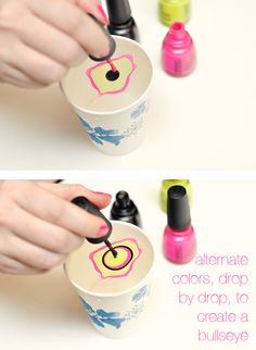 How to do marble nail polish tutorial