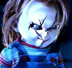 You all know the movies, but not me, okay. I& been trying to figure out if Curse of Chucky takes place before Bride of Chucky or after Seed Of Chucky. I could use some hel. All Horror Movies, Horror Films, Michael Myers And Jason, Child's Play Movie, Childs Play Chucky, Bride Of Chucky, New Year's Crafts, Merfolk, Gremlins