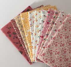 New to AnnabellesStash on Etsy: Reproduction 30's Mix Print 11 Fat Quarter Bundle Quilting Fabric Sewing Crafting Fabric 1930's Small Print Yellow/Pink (33.00 USD)